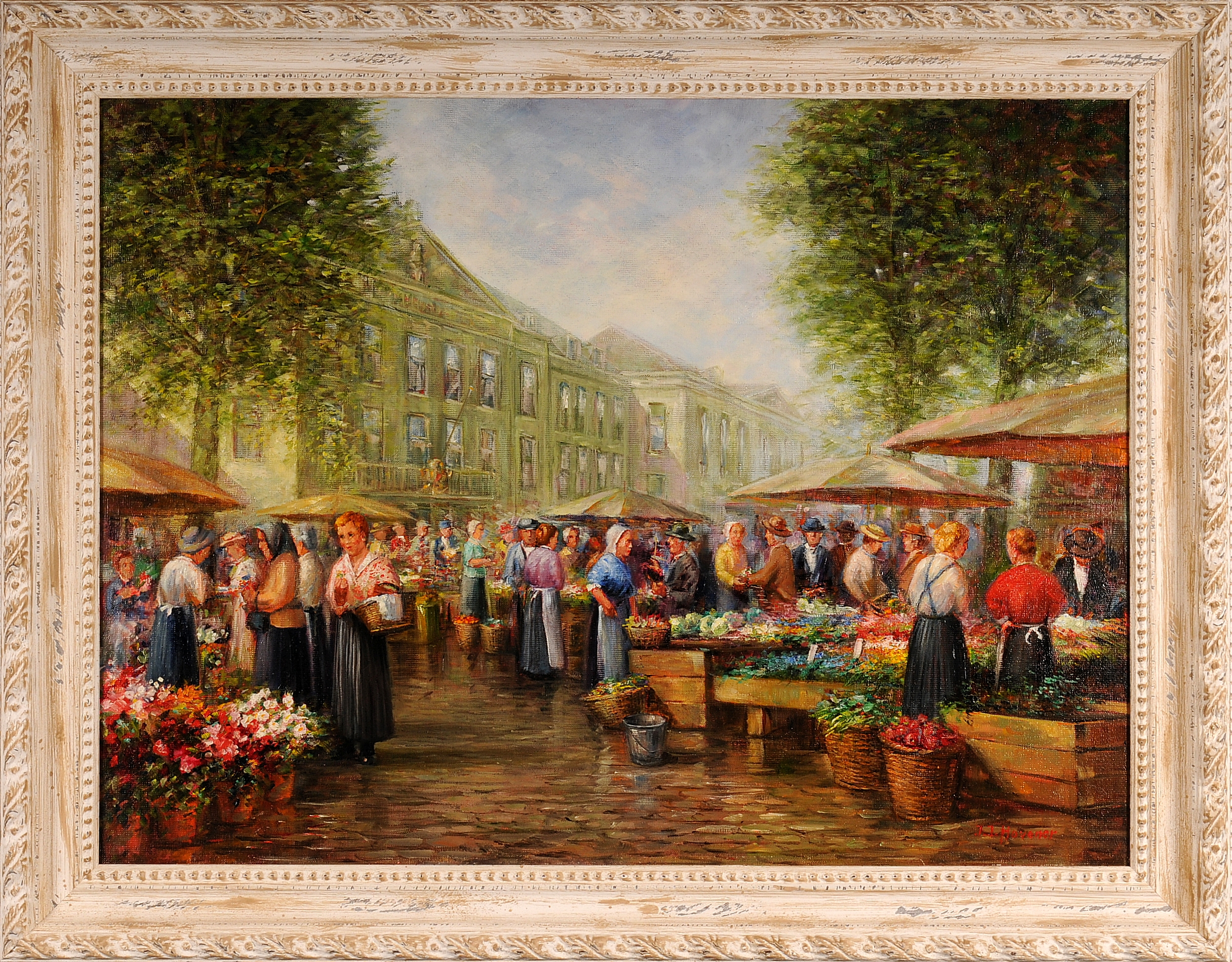 Bloemenmarkt door Jan Hovener